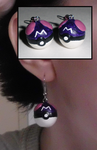 Pokemon-Inspired Master Ball Earrings by UniqueTreats