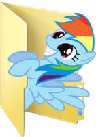 Custom Rainbow Dash folder icon by Blues27Xx