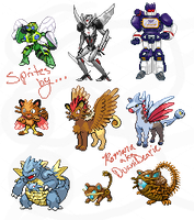 Pokemon Pyramid Sprites Batch #1 by DuaniDearie