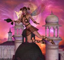 Steampunk dreams in the sky by Hera-of-Stockholm