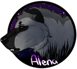 Alena's Medallion( pup) by drawingquirky