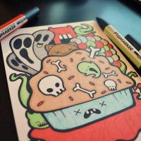 Muffin of Death - original marker sketch by perdita00