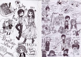 Doctor Who Doodle by WhatItMeansToBeHuman