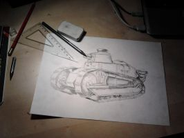 Renault FT-17 crude sketch by Cune