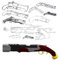retro autopistol by james-ewing