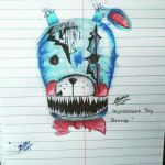 Nightmare Toy Bonnie concept by leafyloo