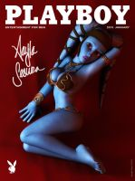 Aayla Secura on Playboy cover by nemecsekerno