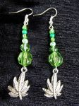 Marijuana Leaf Earrings by mercymoon