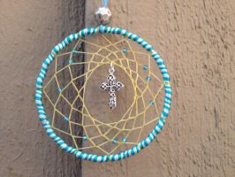 Blue Cross Dream Catcher by Craft-Me-A-Dream