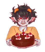 Happy Birthday You Gay Trash Child by colorwonders