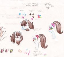 Possible colors for my ponysona by HimekoYagami