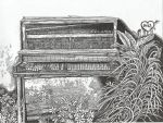 Piano in a Parking Lot by Non-Nematode