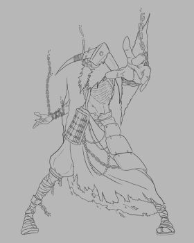 The Wraith Lineart by lucid--shwn