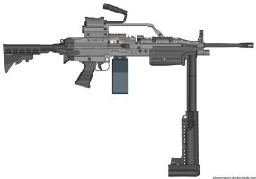 Vehicle Mounted M249 SAW by WolfSniper727