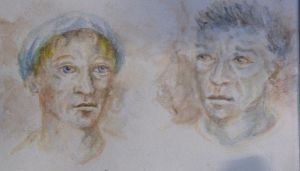 2 portraits - aquarelle by VeronkaPHP