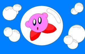 kirby in a bouble by KingKirbyThe3rd