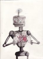 Robot with a Heart by Ka-Pixi