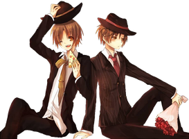 hetalia render } North Italy and South Italy 2 by Rendertalia