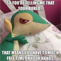 My Snivy Plush Meme by PoyosEpicProductions