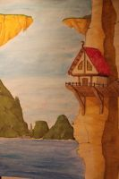 Watercolour landscape by mufflifant