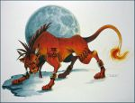 Red XIII- after Tetsuya Nomura by DavidDeb