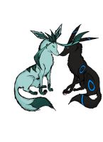 Glaceon and Umbreon by TheBatchu