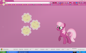 Cheerilee Chrome Theme by pizzalover53