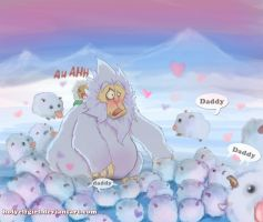 Nunu and poros by HolyElfGirl