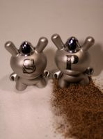 Dunny Salt and Pepper Shakers by zombiemonkie