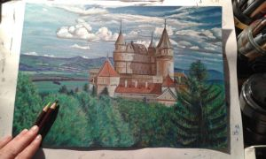 Bojnice castle colored by SusHi182