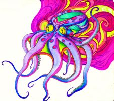 Psychedelic Psquid by SilverSpectrum23