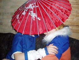Cosplay SasuNaru - Umbrella by ShadowAmicasta