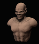 Male Head and Torso Bust by GamerBiscuit