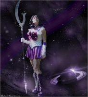Space : sailor saturn by Mikacosplay