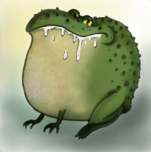 Fat-ass Frog by 7halia