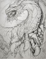 Requested Dragon drawing WIP by yruhauntingme