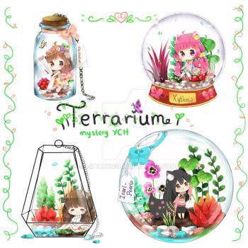 [FINISHED] Mystery YCH Terrarium theme! [Auction] by macaarons