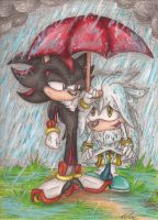 May I come under your Umbrella? by SonicBornAgain