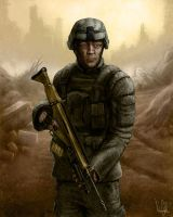 Soldier by AndrewDobell