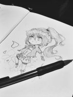 $7 chibi sketch-traditional by MzzAzn