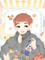 Lazy Day In With Chanyeol by Lolibeat