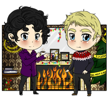 +-+Johnlock Christmas+-+ by ShadowDark1