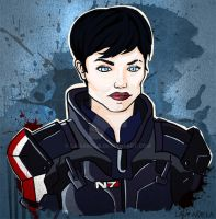 Commander Shepard by LaiaAmela