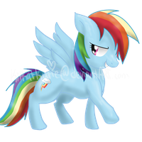 Rainbow Dash by Kitzophrenic