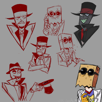 Black hat and Dr.Flug by purimpus2546