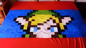 WIP: Minish Cap Inspired Link Quilt by Lizicle