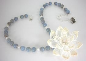 Waterlily Necklace by Lady-Blue