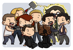 Commission: Avengers Assemble by piratehatter