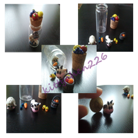 Polymer clay Harvest moon bottle by Kittychen226