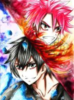 Fairy Tail: Natsu Dragneel | Gray Fullbuster by thenzcchi